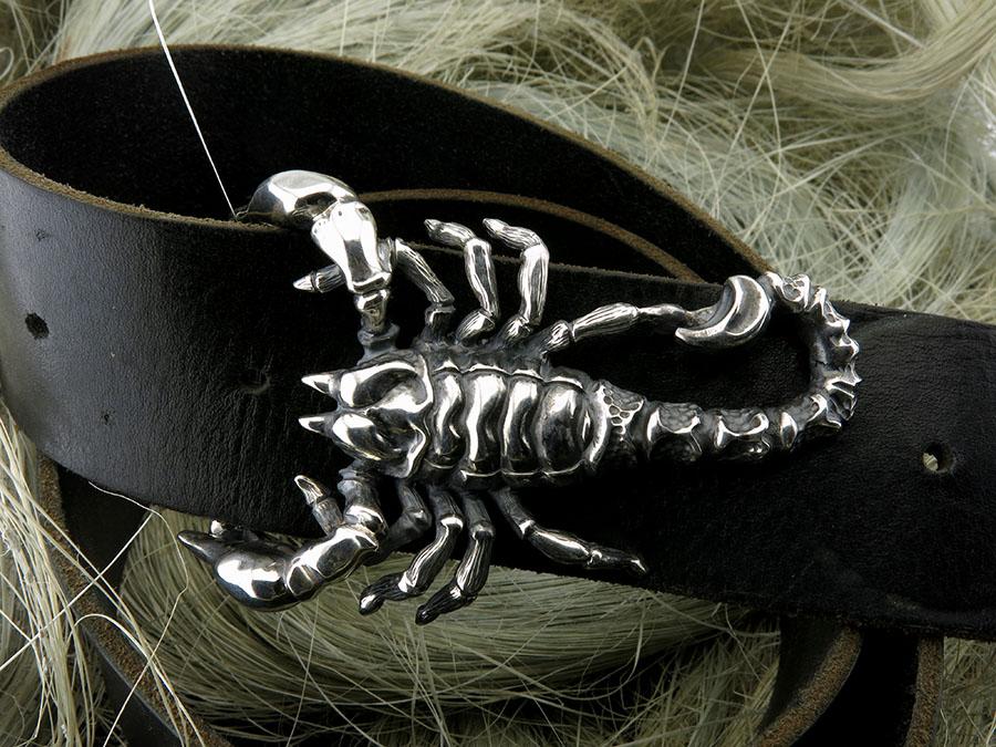 """Пряжка для ремня """"Скорпион"""""""