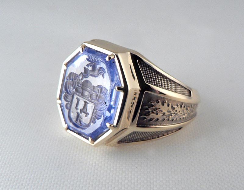 """Перстень с печатью """"Инталия"""""""