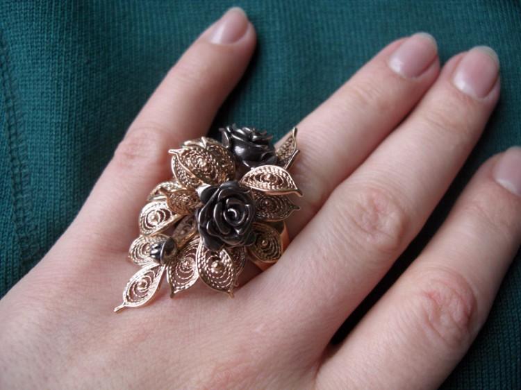 """Кольцо """"Роза"""". Изготовление ювелирных украшений на заказ."""