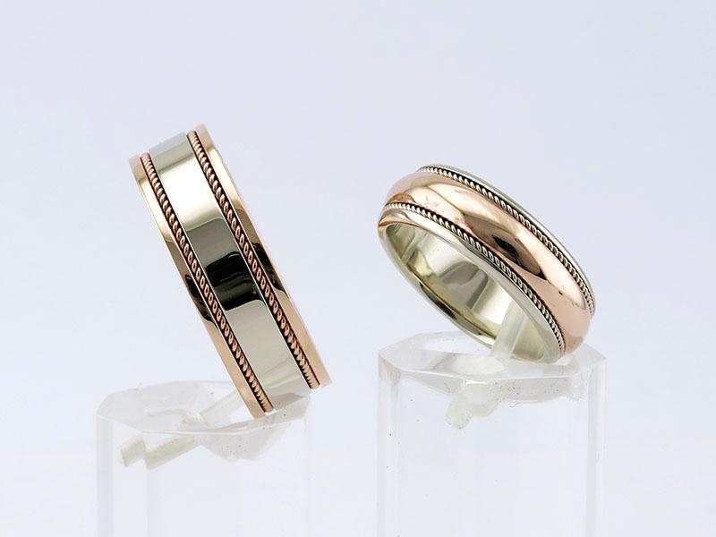 Обручальные кольца комбинированное золото