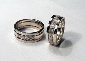 359ffc2a01e3 Авторские обручальные кольца с бриллиантами на заказ. Обручальные кольца с  бриллиантами. из белого золота 750 ...